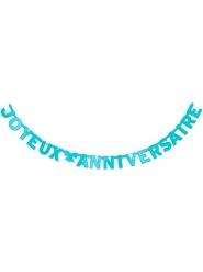 Guirlande Joyeux Anniversaire bleue 280 cm