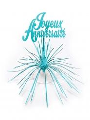 Centre de table Joyeux Anniversaire bleu