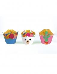 6 Habillages moules à cupcake Frida Lama