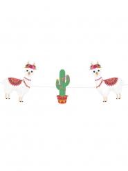 Guirlande en carton Frida Lama 3,5 m x 14 cm