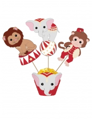 3 Cake toppers Vintage Circus 20 cm