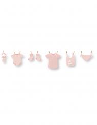 Guirlande en carton DIY bébé rose 1,5 m