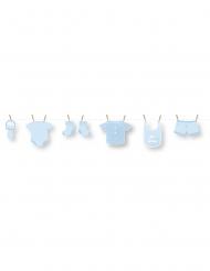 Guirlande en carton DIY bébé bleu 1,5 m
