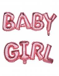 Ballons aluminium lettres Baby Girl rose 118 x 24 cm