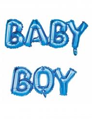 Ballons aluminium lettres Baby Boy bleu 118 x 24 cm