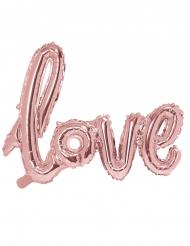 Ballon aluminium love rose pastel 73 x 57 cm