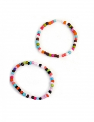 Accessoires pinata 2 Bracelets perles multicolores