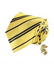 Réplique cravate deluxe avec pin's Poufsouffle Harry Potter™