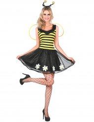 Déguisement abeille jaune et noir femme