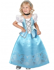 Déguisement princesse bleue et blanche fille
