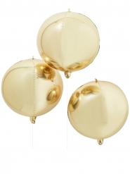 Ballon géant rond doré métallique 55 cm