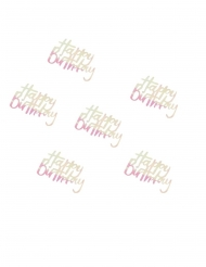 Confettis de table Happy Birthday pastel iridescent 14 g