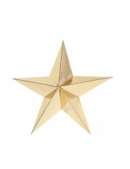 2 Etoiles en carton 3D dorées 25 cm