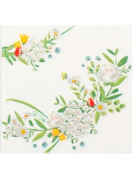 16 Serviettes en papier Garden Party 33 x 33 cm