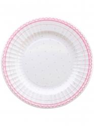 8 Assiettes en carton Petit Rosa 27 cm