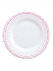 8 Petites assiettes en carton Petit Rosa 21 cm
