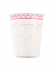 8 Gobelets en carton Petit Rosa 250 ml