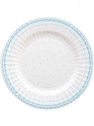 8 Assiettes en carton Petit Azzurro 27 cm