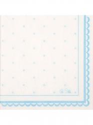 16 Serviettes en papier Petit Azzurro 33 x 33 cm