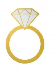 Cadre photobooth Bague diamant doré 55 x 80 cm