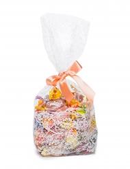 10 Grands sacs en plastique avec dentelle 9 x 6 x 26 cm