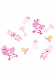 Confettis en carton Baby Girl rose