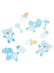 Confettis en carton Baby Boy bleu