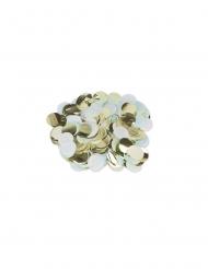 Confettis papier ciel, blanc et doré 3 cm - 36 g