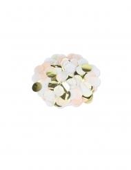 Confettis papier pêche, blanc et doré 3 cm - 36 g