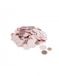 Confettis métal rose gold et paillettes rose 14 g