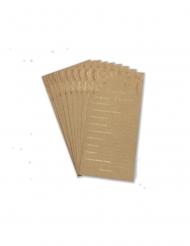 10 Cartes de vœux pour les mariés kraft et bronze 22 x 11 cm