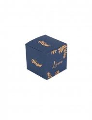 10 Boites fougères Love marine et cuivre 5 cm