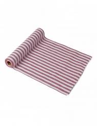 Chemin de table coton rayures rouges et blanches 28 cm x 5 m
