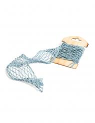 Ruban façon filet bleu 20 cm x 1 m