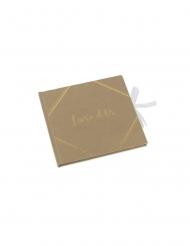 Livre d'or kraft dorure embossée 21 x 20 cm 64 pages