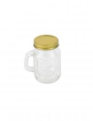 Mason jar en verre doré 5,5 x 8,5 cm - 120 ml