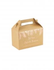 6 Boites kraft pour enfants heureux fougères rose gold 20 x 13 x 11 cm