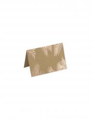 10 Marque-places kraft fougères rose gold 9 x 5 cm
