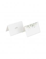 10 Marque-places eucalyptus papier texturé 9 x 6 cm