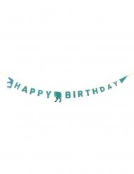 Guirlande en carton Happy birthday dinosaure 3,5 m