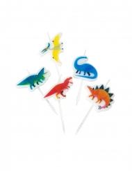5 Bougies d'anniversaire forme dinosaure