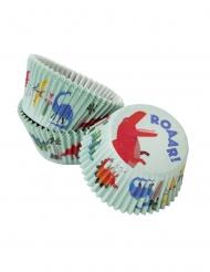 30 Moules à cupcakes dinosaures 30 x 48 mm