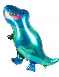 Ballon aluminium t-rex bleu 90 x 55 cm