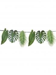 Guirlande en carton feuilles tropicales vertes 3,5 m