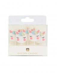 5 Bougies d'anniversaire tête de licorne