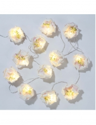 Guirlande lumineuse fleurs blanches 2 m