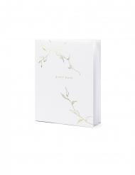 Guest book blanc et doré 22 pages 20 x 24,5 cm