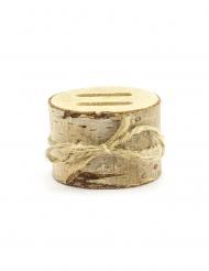 Boîte pour alliances rondin en bois 6 x 4 cm