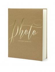 Album photo kraft et blanc 22 pages 20 x 24,5 cm