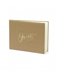 Guest book kraft et blanc 22 pages 24 x 18,5 cm